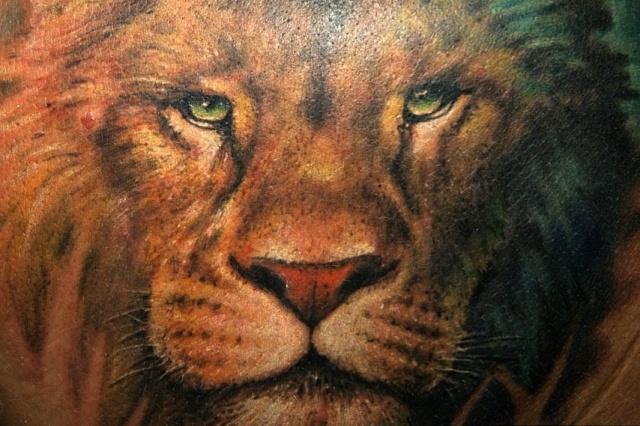 лев татуировка (5)