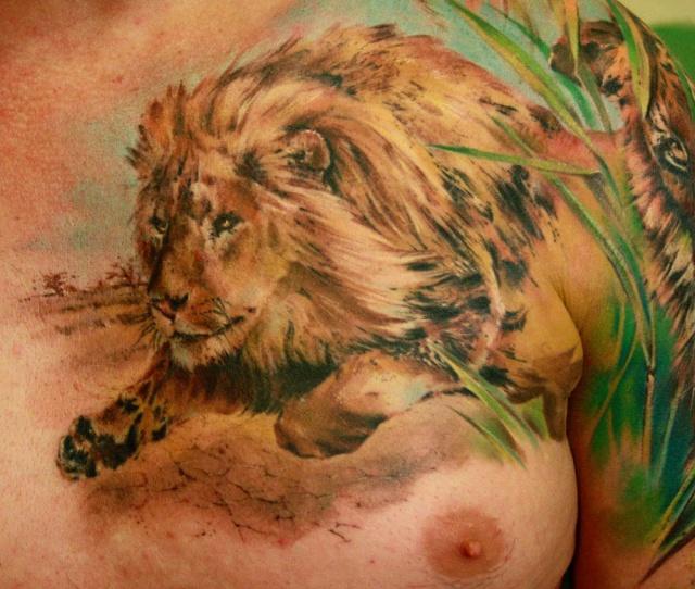 лев татуировка (1)