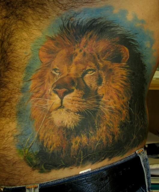 лев татуировка (4)