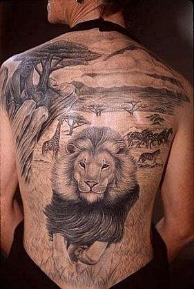 лев татуировка (19)