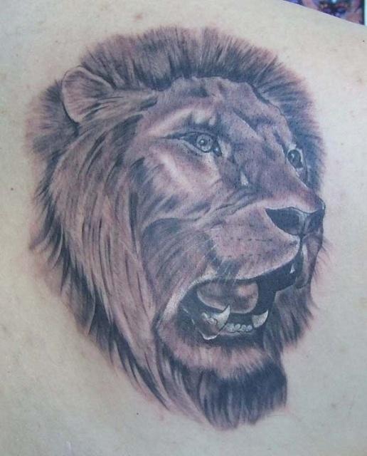 лев татуировка (15)