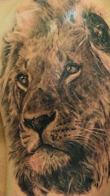 лев татуировка (13)