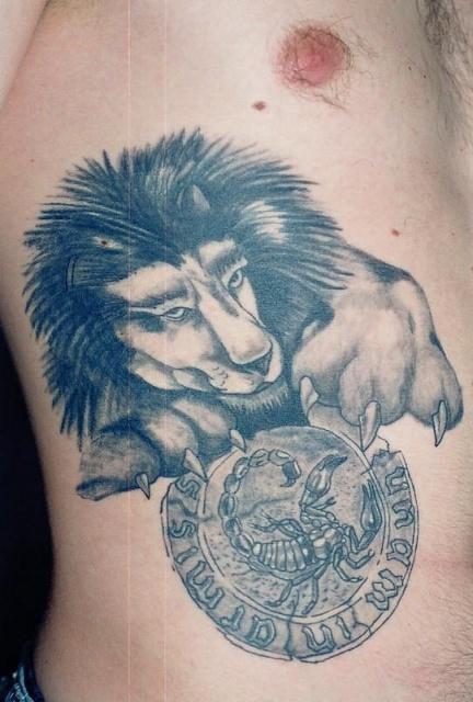 лев татуировка (12)