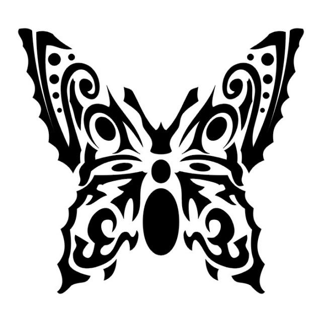 эскизы татуировок бабочки (20)