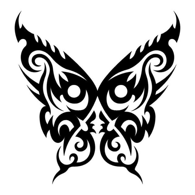 эскизы татуировок бабочки (19)