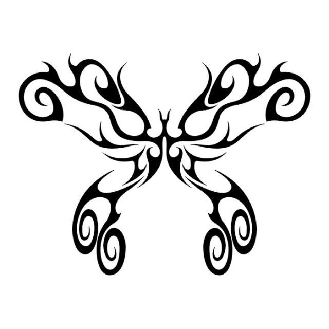 эскизы татуировок бабочки (17)