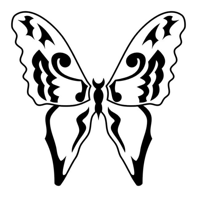 эскизы татуировок бабочки (16)