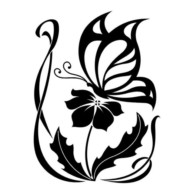 эскизы татуировок бабочки (13)