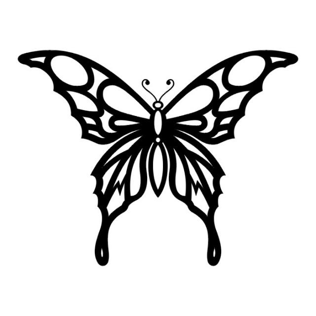 эскизы татуировок бабочки (12)