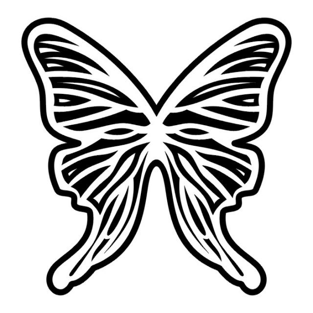 эскизы татуировок бабочки (10)