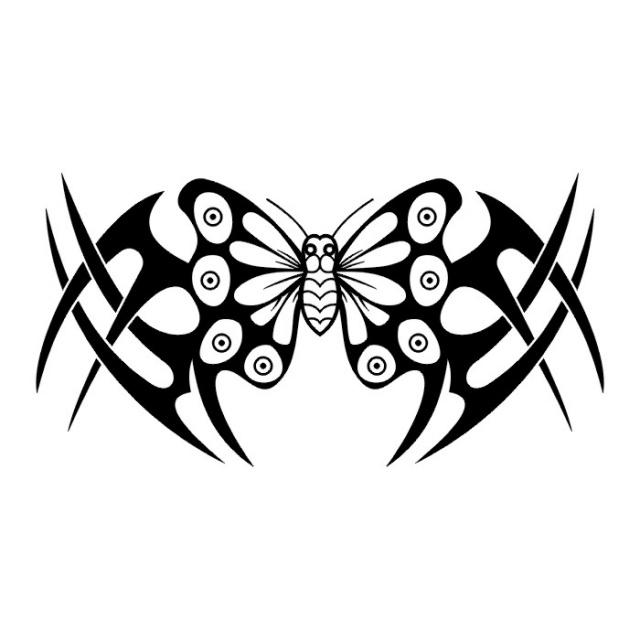 эскизы татуировок бабочки (7)