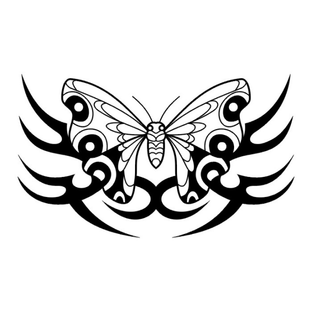 эскизы татуировок бабочки (5)