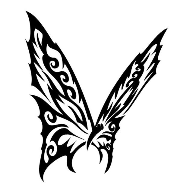 Эскизы татуировок бабочки 1
