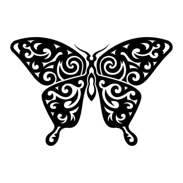 эскизы татуировок бабочки (26)