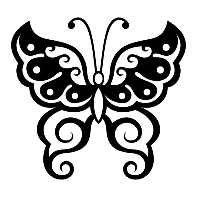эскизы татуировок бабочки (25)