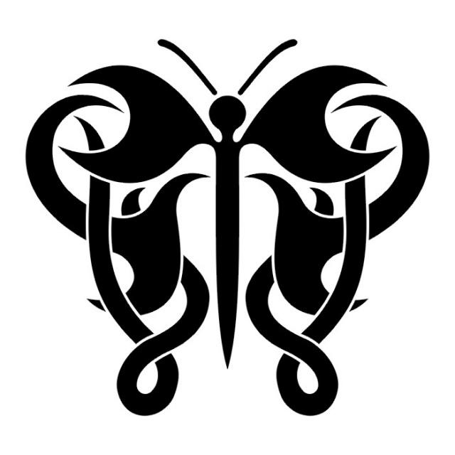 эскизы татуировок бабочки (22)