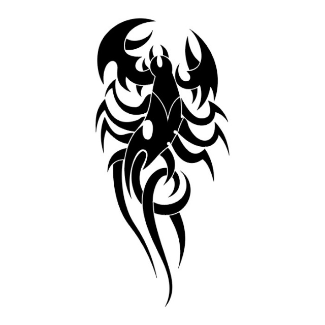 эскизы татуировки скорпиона  (7)