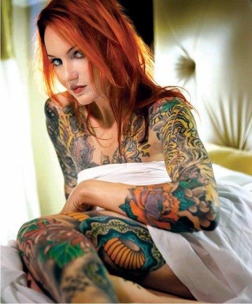девушки и татуировки на теле