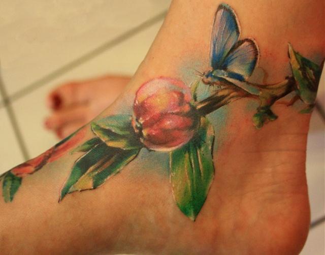 Татуировки цветов на теле (17)