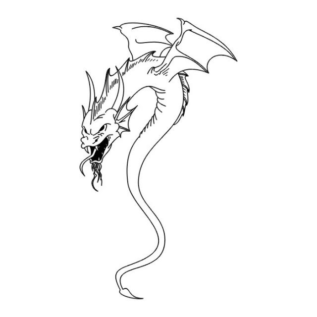 эскизы дракона (14)