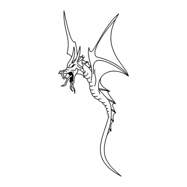 эскизы дракона (7)