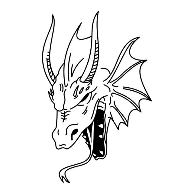 эскизы дракона (25)