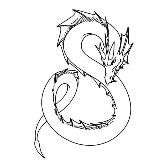 эскизы дракона (23)