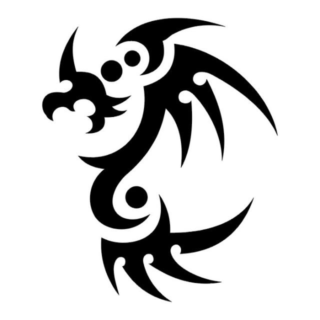Татуировки драконов эскизы (20)