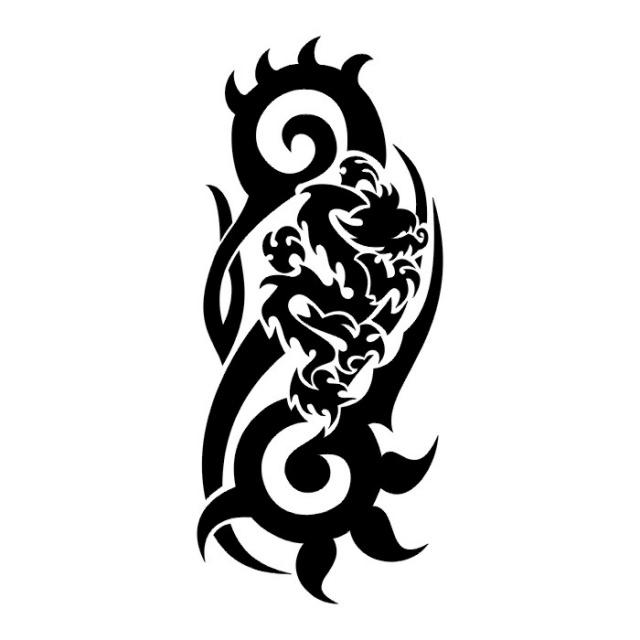 Татуировки драконов эскизы (24)