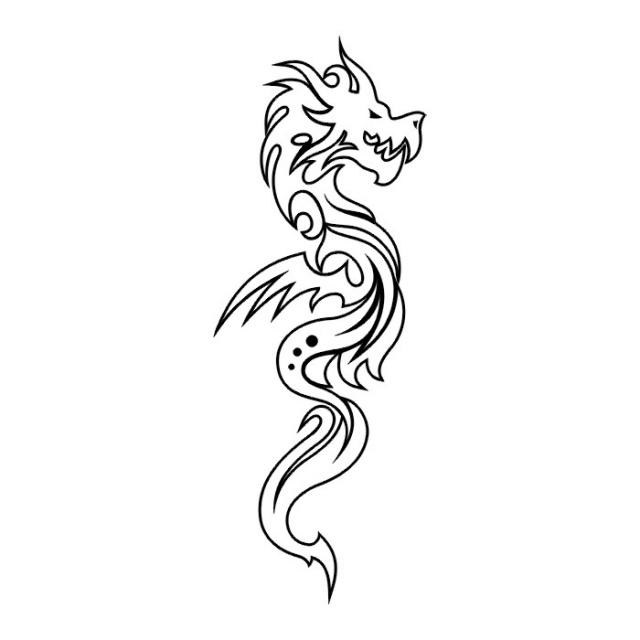 Татуировки драконов эскизы (25)