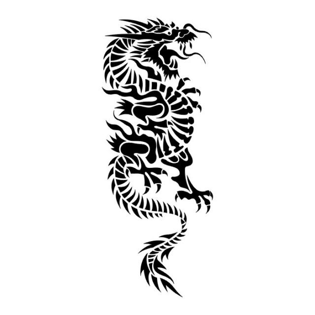 Татуировки драконов эскизы (26)