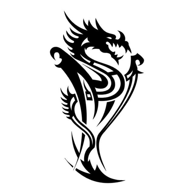 Татуировки драконов эскизы (27)