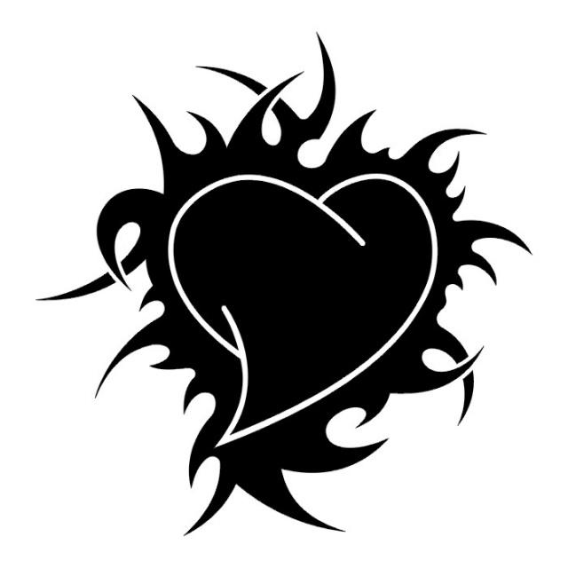 тату чернильное сердце