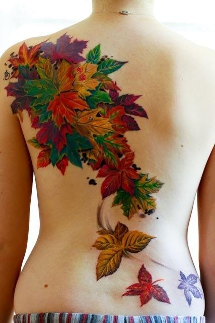 Листья на спине