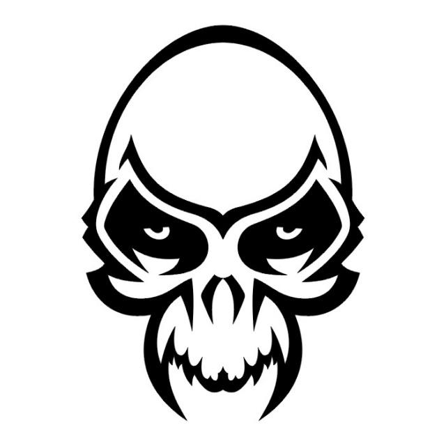 Эскизы татуировки череп (9)