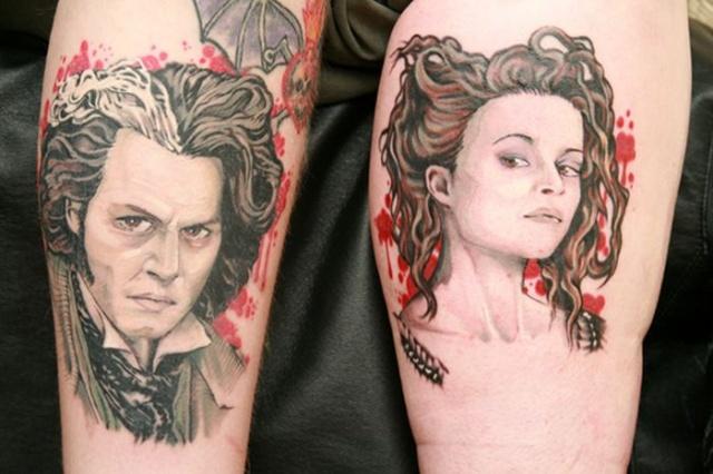 парные татуировки на руках