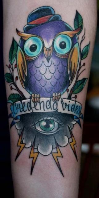 Татуировка-сова