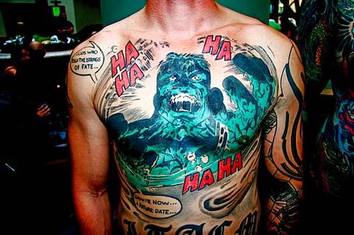татуировки комиксы: Халк (2)
