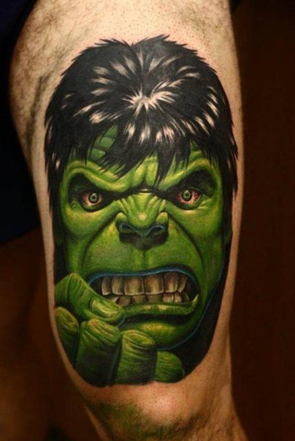 татуировки комиксы: Халк (12)