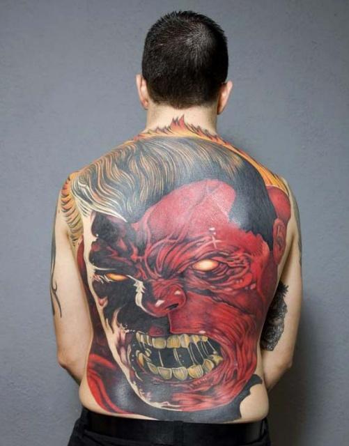 татуировки комиксы: Халк (19)