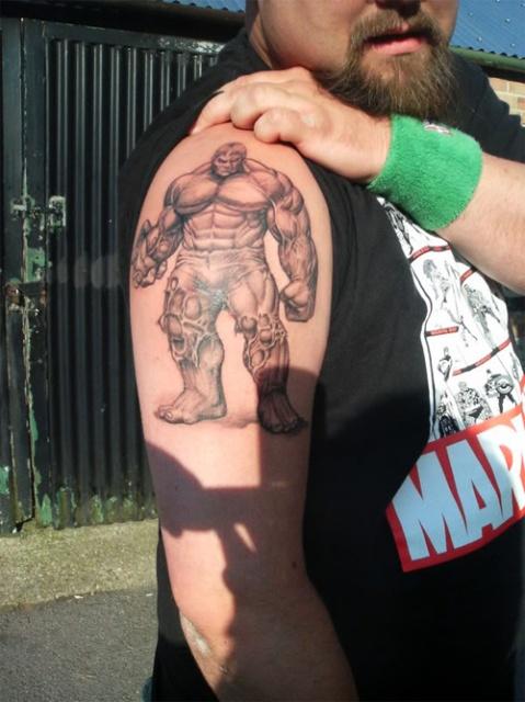 татуировки комиксы: Халк (3)