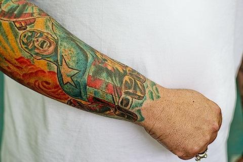 татуировки комиксы: Капитан Америка (20)
