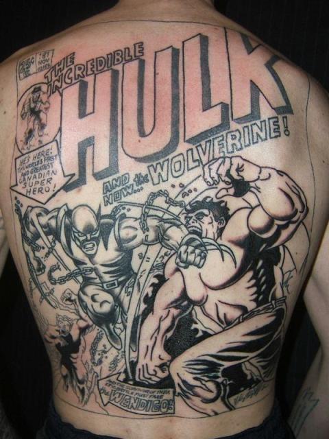 татуировки комиксы: Халк и россомаха (21)