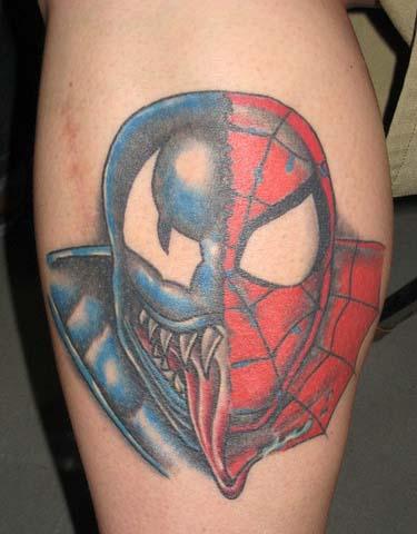 татуировки комиксы: Спайдермен и Веном (29)