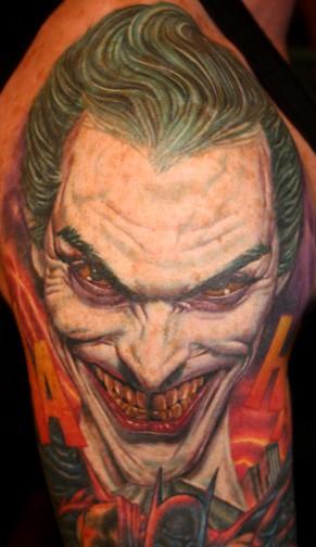 татуировки комиксы: Джокер (31)