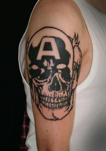 татуировки комиксы: Капитан Америка (39)