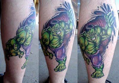 татуировки комиксы: Халк (41)