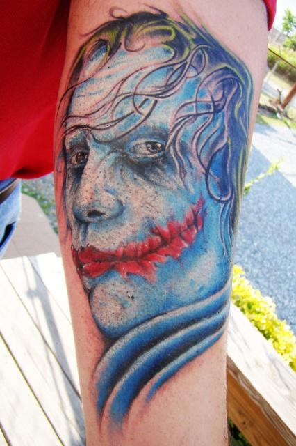 татуировки комиксы: Джокер (6)