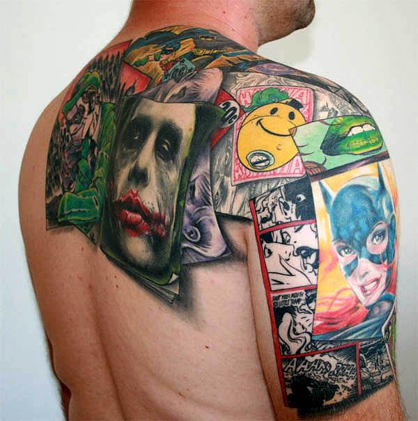 татуировки комиксы: Джокер (9)