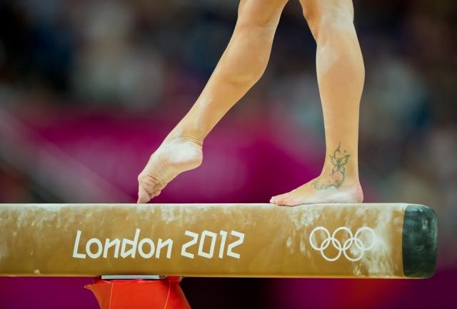 Итальянская спортсменка Ванесса Феррари. Татуировка на ноге